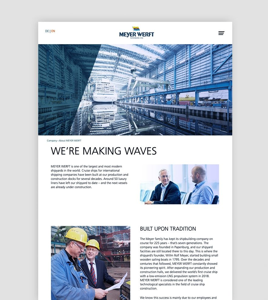 Blumdesign Projekte Meyer Werft Relaunch Bild1 Rechts