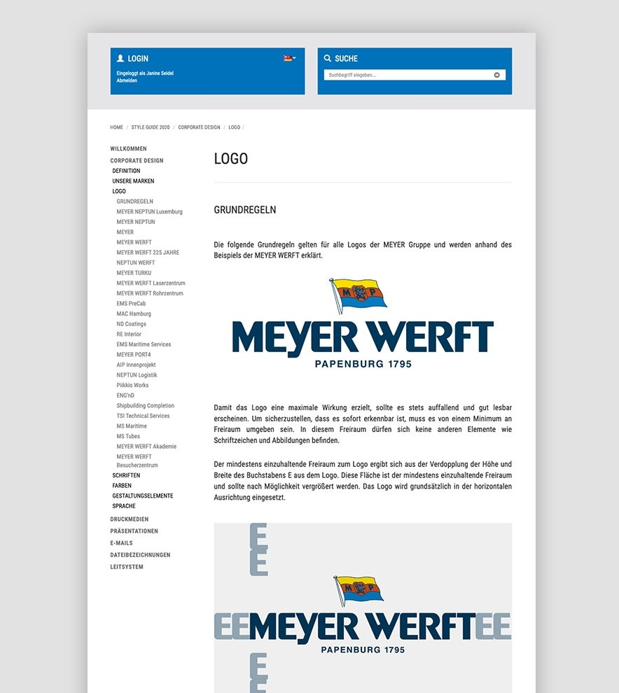 Blumdesign Projekte Meyer Werft Relaunch Styleguide01