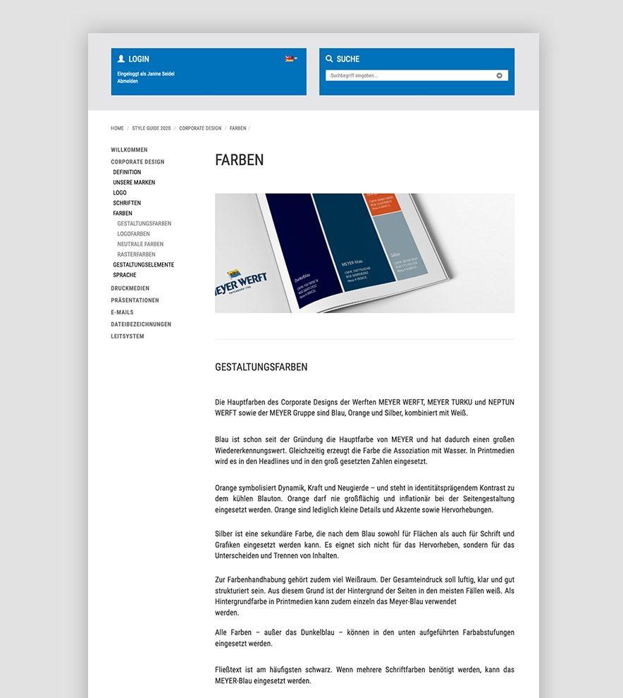 Blumdesign Projekte Meyer Werft Relaunch Styleguide02